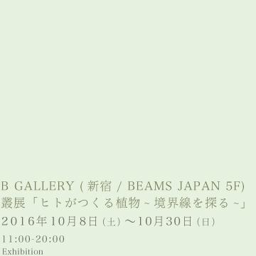 叢 – Qusamura 展「ヒトがつくる植物 〜境界線を探る〜」B GALLERY
