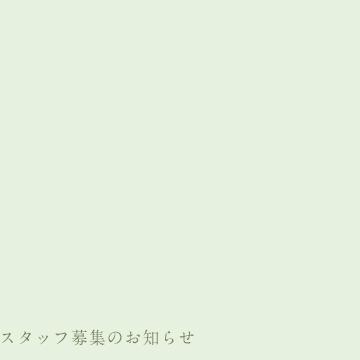 スタッフ募集のお知らせ (広島・東京)
